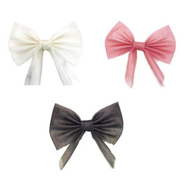 Riqki Tulle Standing Bow Clip