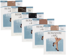 Berkshire Womens Queen Silky Sheet Leg Control Top Pantyhose