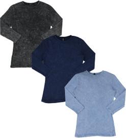 Kiki Riki Womens Stone Wash 3/4 Sleeve Shell