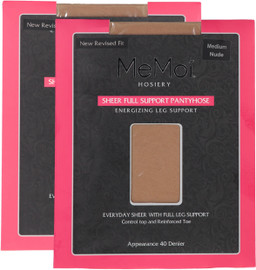 MEMOI WOMENS SHEER FULL SUPPORT PANTYHOSE