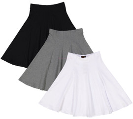Ladies Cotton Panel Skirt