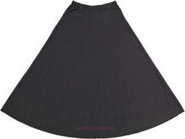 Ladies Long Pleated Skirt