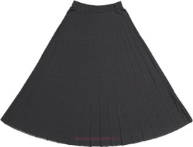 Girl's Long Pleated Skirt