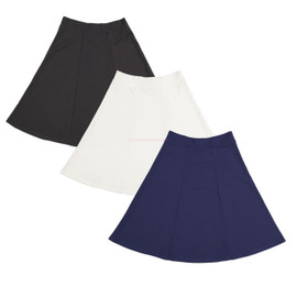 Girl's Lycra 6 Pleat Skirt