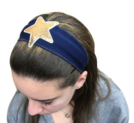 Gold Star Patch Headband
