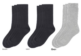 Memoi 3 Pair Cotton Boy Socks