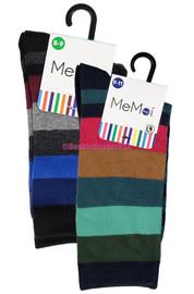 Memoi Boys Bold Stripes Crew Socks