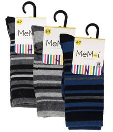 Memoi Boys Multi Stripe Dress Socks