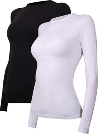 Avanti Womens Long Sleeve Milk Silk Modal Shell