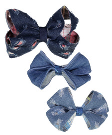 Riqki Distressed Denim Clips