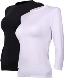 Avanti Womens 3/4 Sleeve Milk Silk Modal Shell