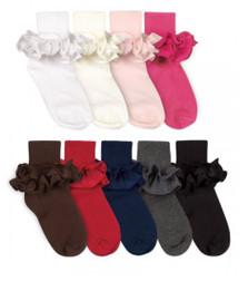 Jefferies Misty Ruffle Turn Cuff Socks (1 pair)