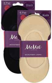 Memoi Girls Microfiber Shoe Liner 6 Pack