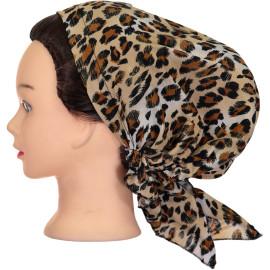 Riqki Womens Light Leopard Pre-Tied Bandana