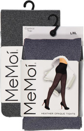 Memoi Womens Heather Flat Knit Opaque Tights