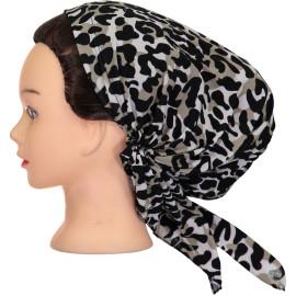 Riqki Womens Leopard Pre-Tied Bandana