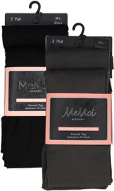 Memoi Womens Microfiber Opaque Control Top Tights 2 Pack