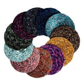 Revaz Womens Two Tone Chenille Lined/Unlined Beret/Snood