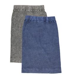 Kiki Riki Womens Ribbed Stonewash Pencil Skirt