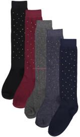 BlinQ Girls Multicolored Gem Knee High Socks - 2019502