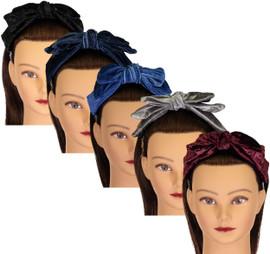 Riqki Girls Velvet Bow Headband - HB1920