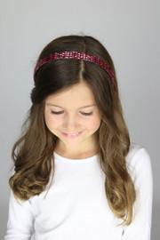 Riqki Mulberry Rhinestone Headband