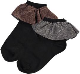 JRP Girls Glitz Lace Ankle Sock - AGLT