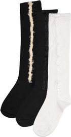JRP Girls Feather Stripe Knee Sock - SFES