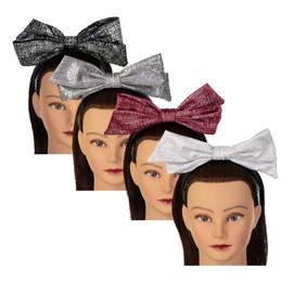 Riqki Girls Headband - HB1922 - Metallic Stamped Bow