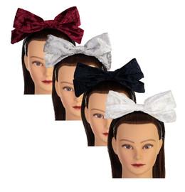 Riqki Girls Headband - HB1923 - Embossed Velvet Bow