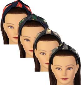 Riqki Girls Star Striped Turban Knot Headband - HB1926