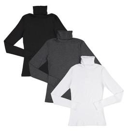 Kiki Riki Womens Ribbed Turtleneck Long Sleeve T-shirt - 28071