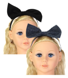 Dazzle Baby Girls Wool Bow Headband - 7012bb