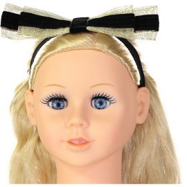 Dazzle Baby Girls Velvet Ribbon Headband - 7038bb
