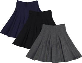 BGDK Girls Ribbed Panel Skirt - BK-1610