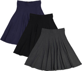 BGDK Womens Ribbed Panel Skirt - BK-1610A