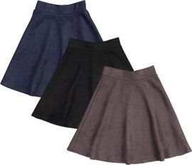 BGDK Girls Suede Skater Skirt - BK-S1930