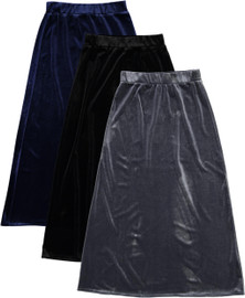 BGDK Girls Long Velvet Skirt - BK-8006