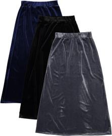 BGDK Girls Long Velvet Skirt - BK-8006