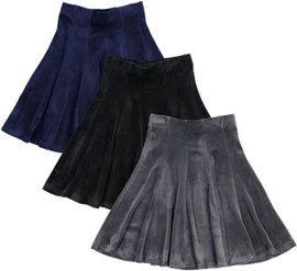BGDK Girls Velour Panel Skirt - BK-JH266