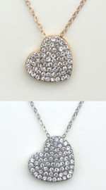 Fresh & Co Filled Heart Necklace - N1048CR