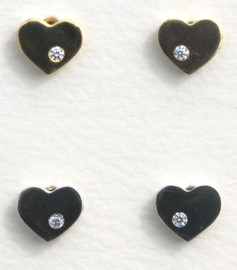 Fresh & Co Heart with Diamond Earrings - DE6009CR