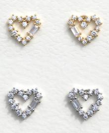 Fresh & Co Heart Outline Earrings - PE1023CR