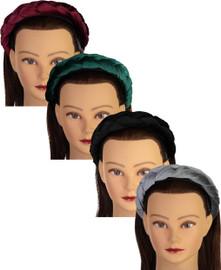 Riqki Girls Braided Velour Headband - FH557