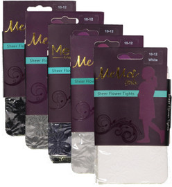 Memoi Girls Sheer Flower Tights - MK-716
