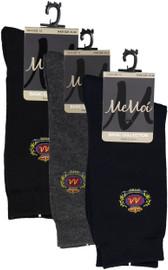 Memoi Boys Crest Dress Socks - MK-168