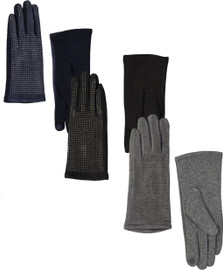 Riqki Womens Studded Gloves - LG602