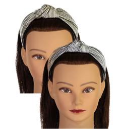 Riqki Girls Metallic Pinstripe Turban Knot Headband - HB1932