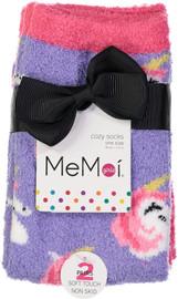 Memoi Girls Unicorn 2PP Fuzzy Socks - MKF-9600