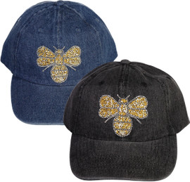 Riqki Womens Gold Bee Baseball Cap